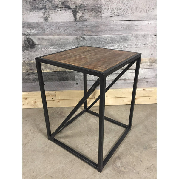 Sandstorm Rustic Industrial End Table
