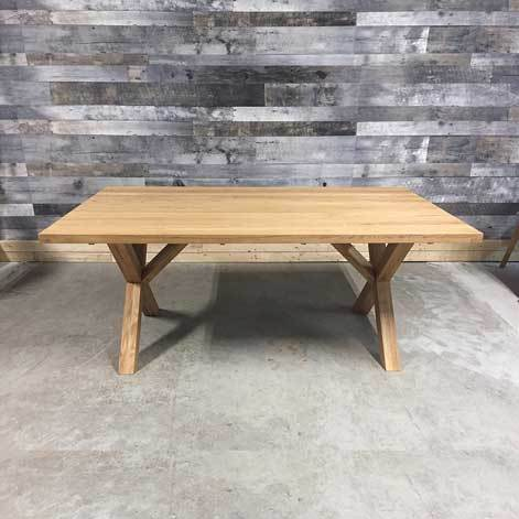 Solid wood traditional white oak table