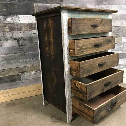 Tacoma rustic pine tall boy chest of drawers
