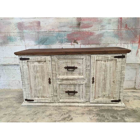 White Wash Pine Credenza-filing Cabinet