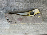 Spyderco Hundred Pacer Liner lock with Sand G10 Scales and CTS-XHP Blade
