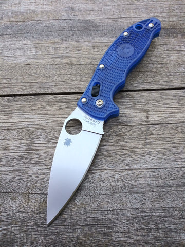 Spyderco Manix 2 with FRN Blue Scales and CTS-BD1 Blade