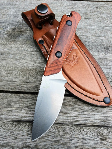 Benchmade 15017 Hidden Canyon Hunter Knife Wood Fixed Blade