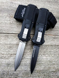 Benchmade 3350 Infidel OTF Automatic Knife Satin Double Edged Dagger