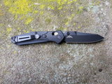 Benchmade 945BK-1 Mini-Osborne Black G-10 with Black S30V Plain