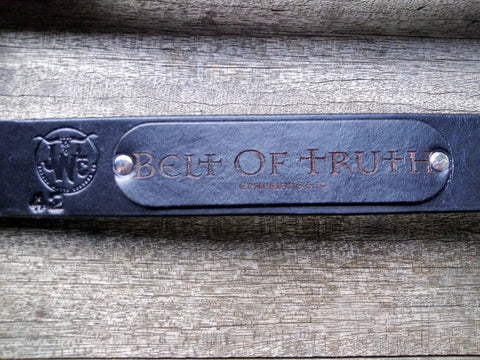 "Joshua Watts Leather 42"" Belt of Truth (Black)"