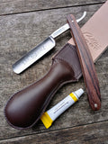 Giesen & Forsthoff Straight Razor with Stainless Blade & Rosewood Handle