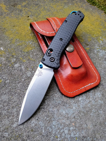 Benchmade 535-3 Bugout with Joshua Watts Leather Sheath
