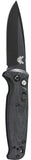 Benchmade 4300BK CLA Automatic Knife Black G-10 Black Plain