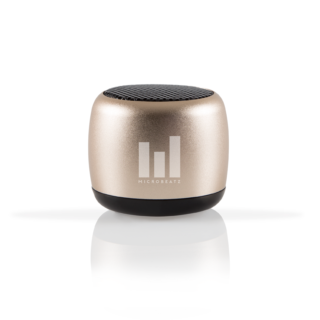 MICROBEATZ® Tiny Gold Portable Bluetooth Speaker
