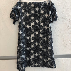 Steel Rose Sleeve Dress