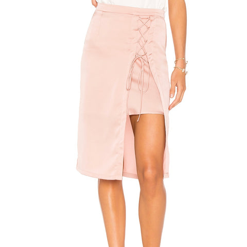 Layer Lace Up Skirt