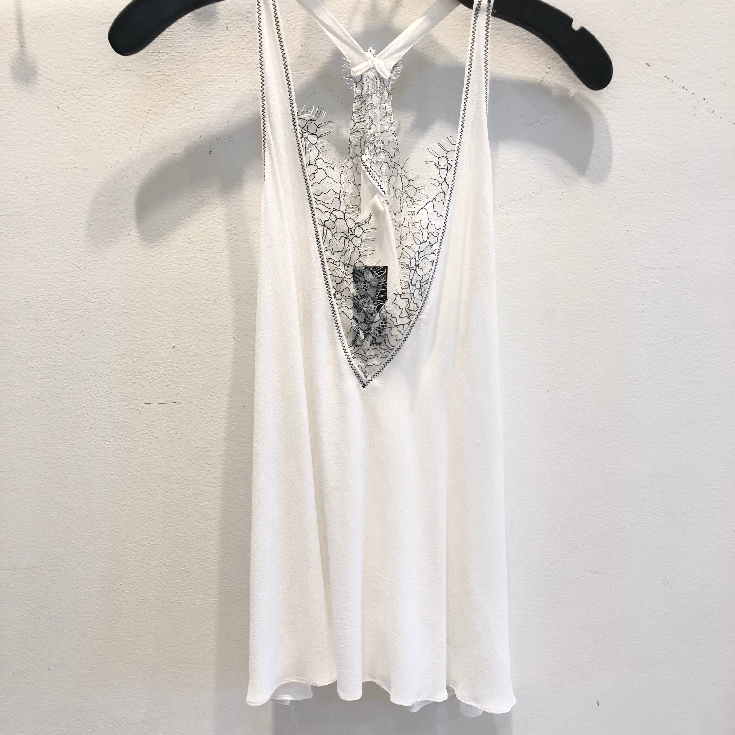 Black & White Lace Cami