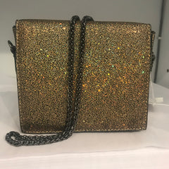Gold Glitter Chainstrap Crossbody