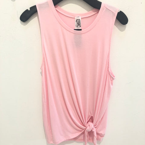 Pink Knot Sleeveless Top