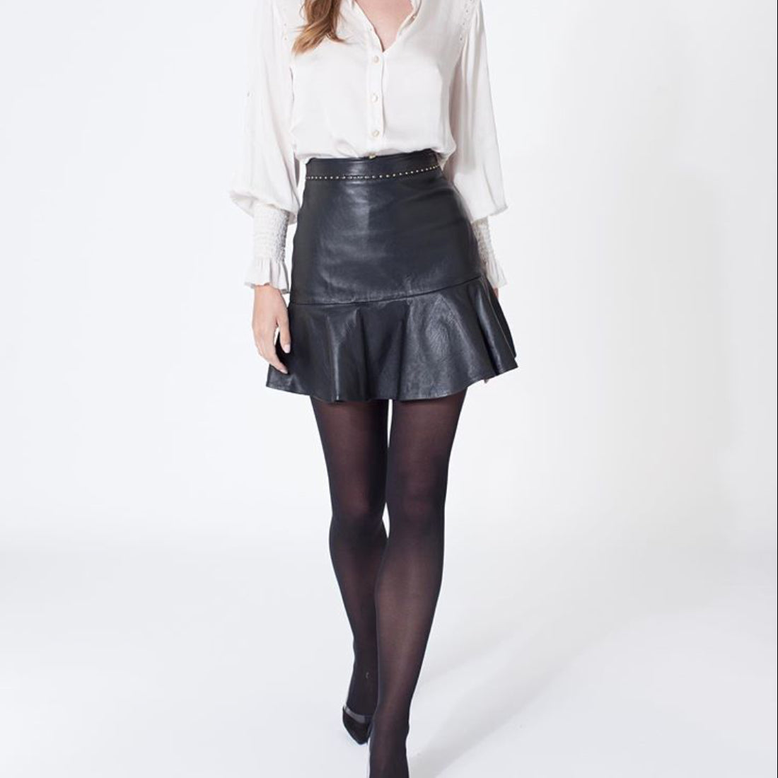 Romy Leather Skirt