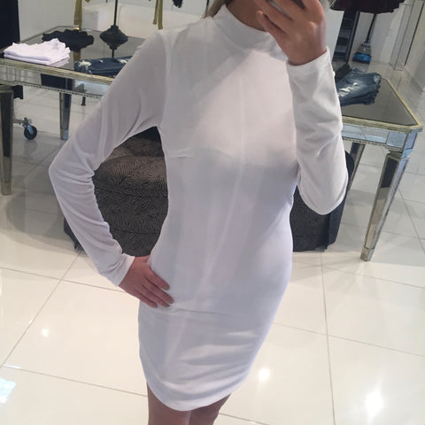 White Velvet MJ Dress