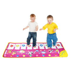 Touch Play Keyboard Music Carpet  kids> 3 years old. Animal Pattern Baby Educational Mat Blanket