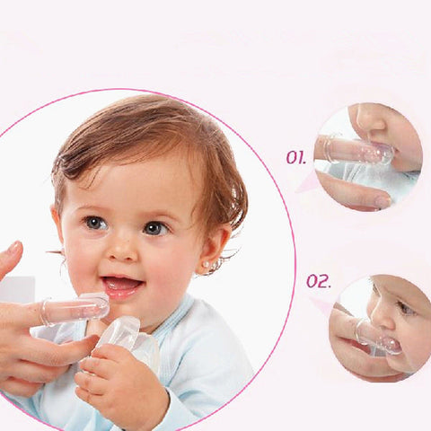 Finger Silicone Teether Toothbrush Massager