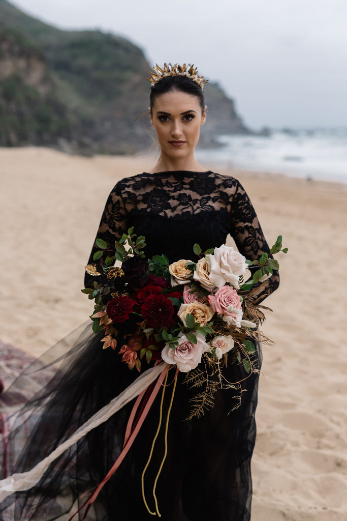 Ocean Gypsy 2 piece black wedding dress