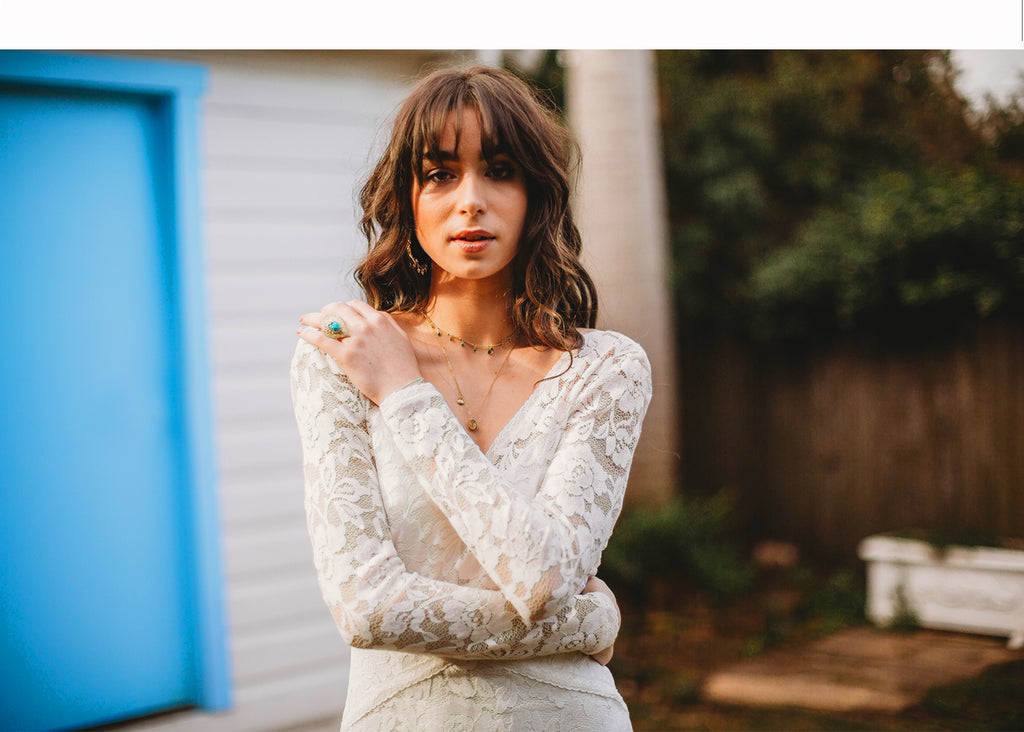Alexa Long Sleeve Lace Boho Wedding Dress