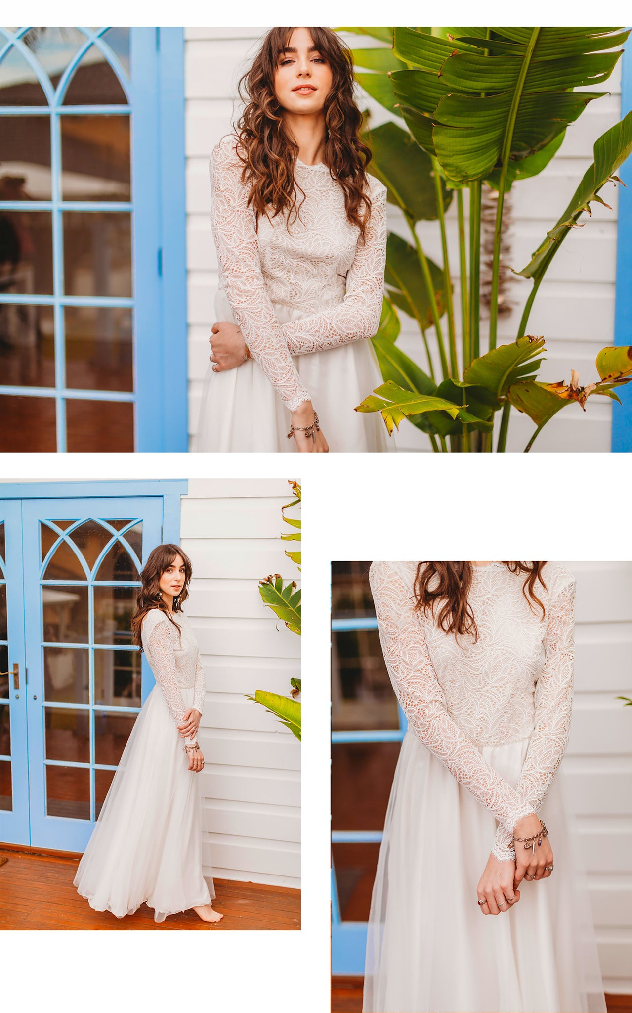 Skye Long Sleeve Boho Lace Wedding Dress