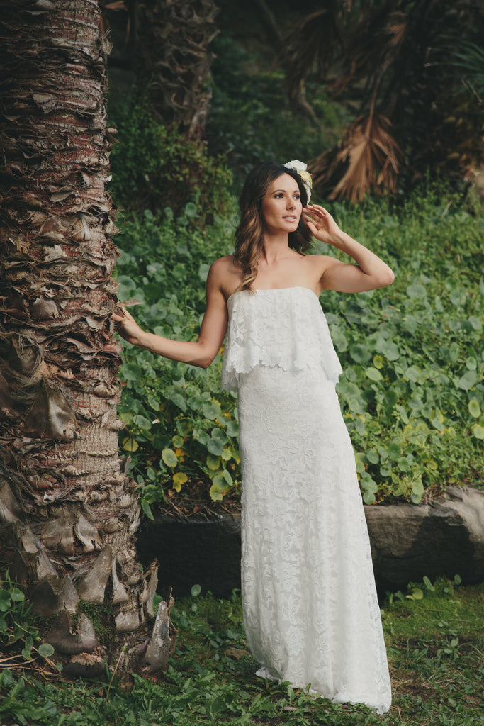 JULIETTE Strapless Boho Wedding Dress