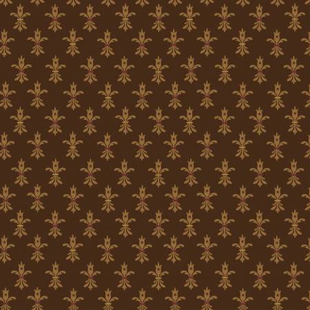 Wit And Wisdom - Kim Diehl - Fleur De Lis - 1424-33 - Fabric is sold in 1/2 yard increments.