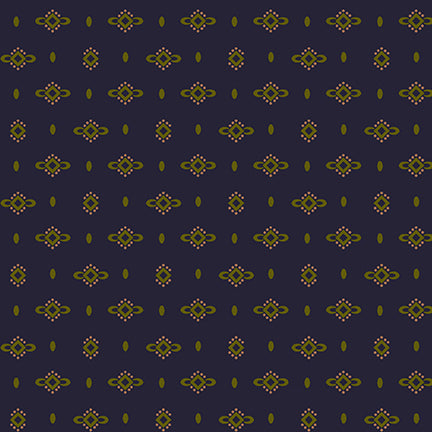 Wit And Wisdom - Kim Diehl - Dotted Diamonds - 1426-77 - Fabric is sold in 1/2 yard increments