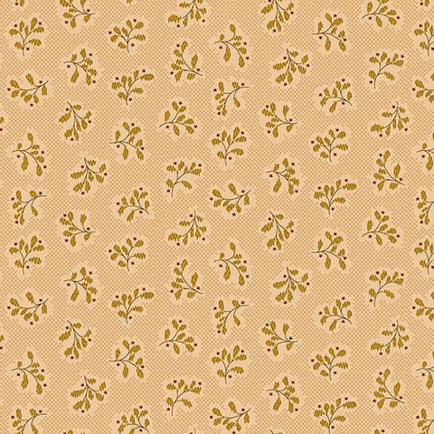 Wit And Wisdom - Kim Diehl - Leaf Cluster - 1429-44 - Fabric is sold in 1/2 yard increments