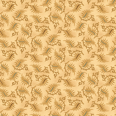 Wit And Wisdom - Kim Diehl - Sawtooth Leaves - 1431-44 - Fabric is sold in 1/2 yard increments