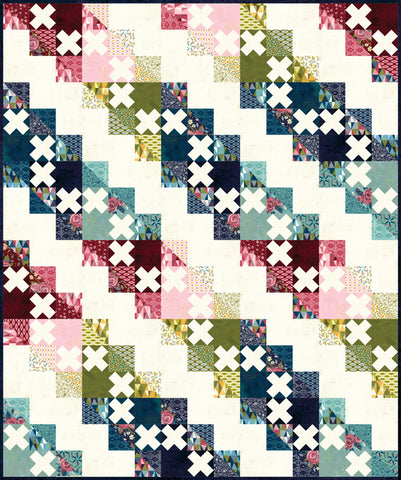 Stolen Kisses Quilt Kit - Nova - Basic Grey - KIT-30580