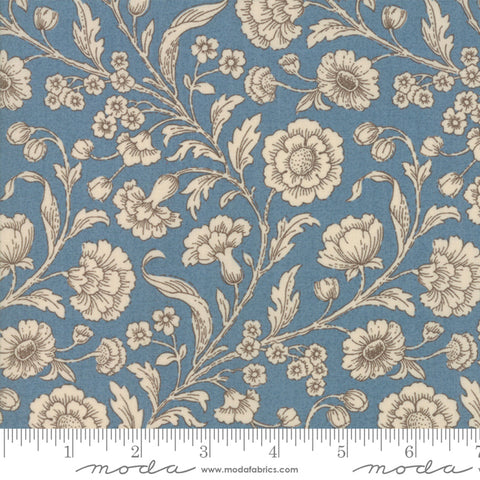 Vive La France - French General - Woad Amboise - 13830-21 - Fabric is sold in 1/2 yard increments