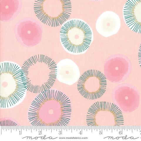 Day In Paris - Zen Chic - Metallic Blooming - Bubble Gum - 1680-13M - Fabric is sold in 1/2 yard increments