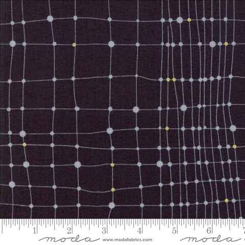 Day In Paris - Zen Chic - Metallic Net - Charcoal - 1682-14M - Fabric is sold in 1/2 yard increments
