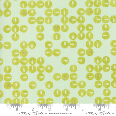 Day In Paris - Zen Chic - Metallic Twinkle - Aqua - 1683-16M - Fabric is sold in 1/2 yard increments