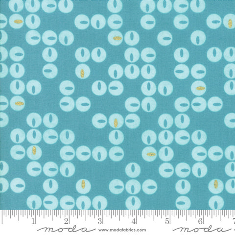 Day In Paris - Zen Chic - Metallic Twinkle - Teal - 1683-17M - Fabric is sold in 1/2 yard increments