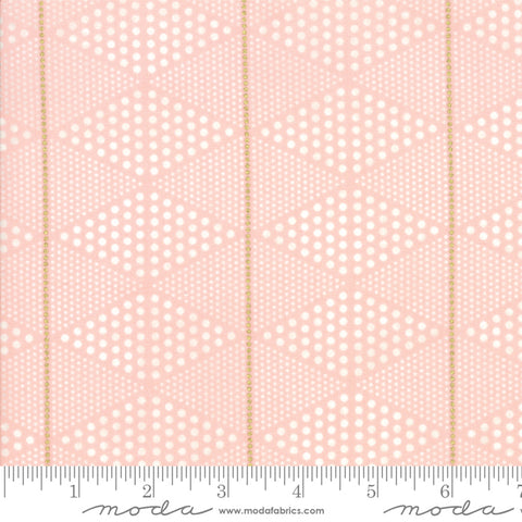 Day In Paris - Zen Chic - Metallic Diamonds - Bubble Gum - 1684-13M - Fabric is sold in 1/2 yard incremetns