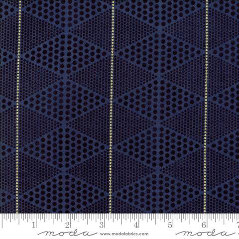 Day In Paris - Zen Chic - Metallic Diamonds - Navy - 1684-18M - Fabric is sold in 1/2 yard increments