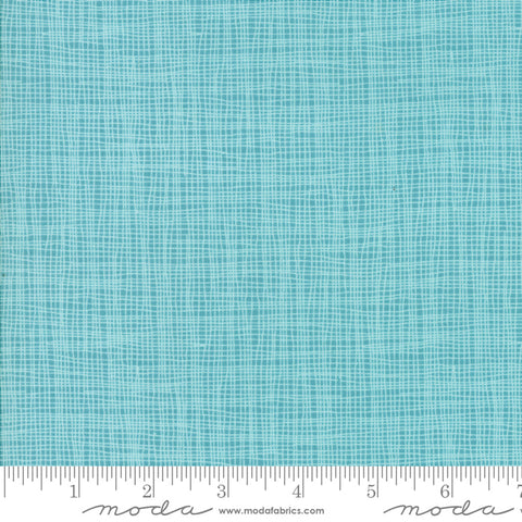 Day In Paris - Zen Chic - Grid - Teal - 1686-16 - Fabric is sold in 1/2 yard increments