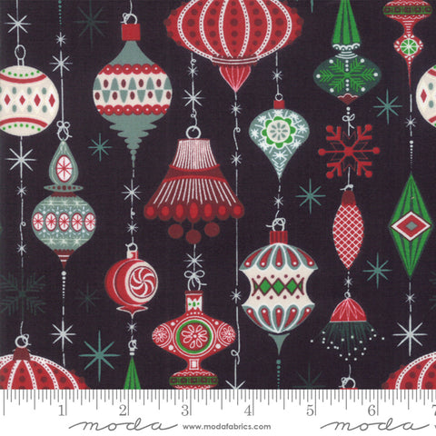 Kringle Claus - Basic Grey - Deck The Halls - Coal - 30591-12 - Fabric is sold in 1/2 yard increments