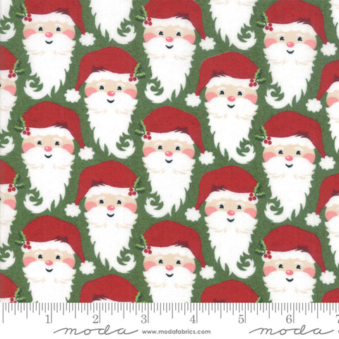 Kringle Claus - Basic Grey - Kringle - Holly - 30592-14 - Fabric is sold in 1/2 yard increments