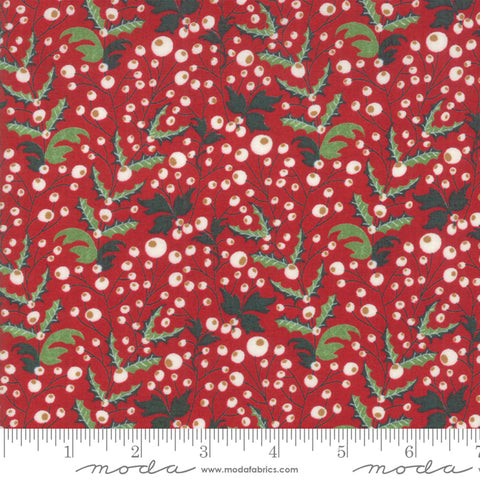 Kringle Claus - Basic Grey - Holly Berry - Berry - 30593-13 - Fabric is sold in 1/2 yard increments