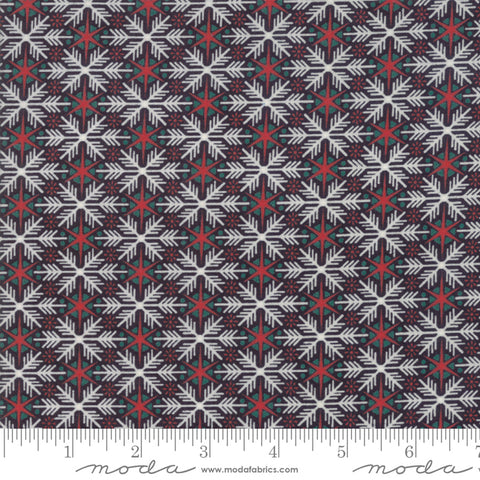 Kringle Claus - Basic Grey - Frosty Flakes - Coal - 30594-13 - Fabric is sold in 1/2 yard increments