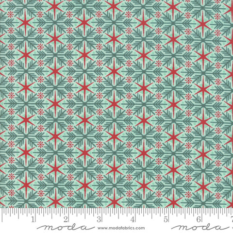 Kringle Claus - Basic Grey - Frosty Flakes - Frosty - 30594-18 - Fabric is sold in 1/2 yard increments