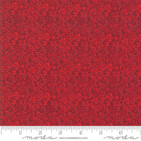 Kringle Claus - Basic Grey - Prancer - Berry - 30595-14 - Fabric is sold in 1/2 yard increments