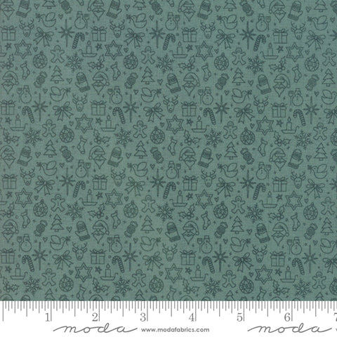 Kringle Claus - Basic Grey - Traditions - Blue Spruce - 30597-20 - Fabric is sold in 1/2 yard increments