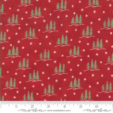 Holiday Lodge - Deb Strain - Winter - Berry Red - 19895-11 - Fabric is sold in 1/2 yard increments