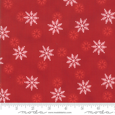 Holiday Lodge - Deb Strain - Snowfall - Berry Red - 19896-11 - Fabric is sold in 1/2 yard increments
