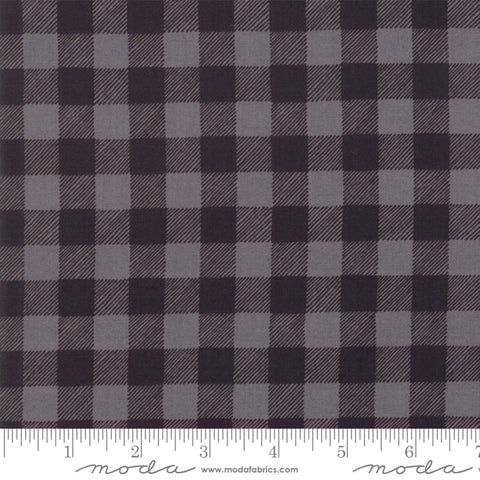 Holiday Lodge - Deb Strain - Buffalo Plaid - Charcoal / Grey - 19897-14 - Fabric is sold in 1/2 yard increments